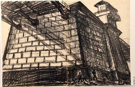 Leonard Rosenfeld, '123, Laborers at the Foot of the Williamsburg bridge', 1957