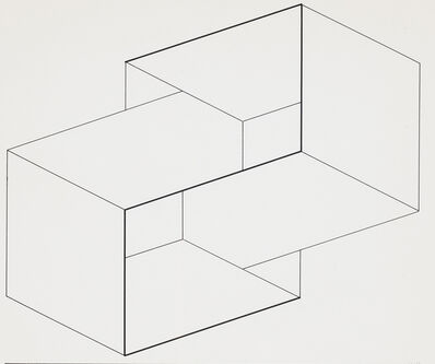Josef Albers, 'Drawings of a Structural Constellation I & II: A pair of drawings', 1962