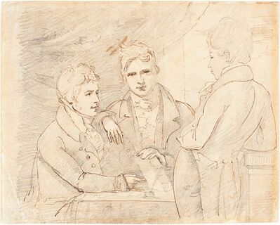 John Jackson, 'Young Gentlemen in Conversation'