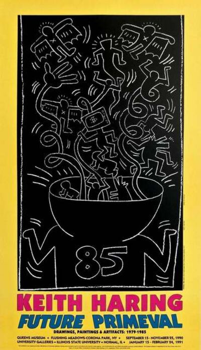 Keith Haring, 'Future Primeval, 1990 Queens Museum Exhibition Poster', 1990
