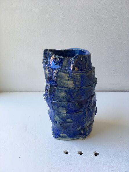 Superpoly, 'Blue Fold Vase', 2018