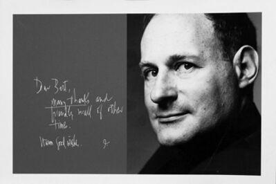 Bert Stern, 'Irving Penn and his note in Bert Stern's studio guest book', 1960