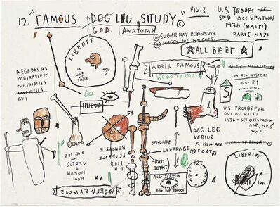 Jean-Michel Basquiat, 'DOG LEG STUDY', 2019