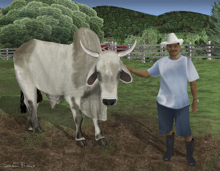 Susan Baus, 'Juan Tabin and His Bull', 2015