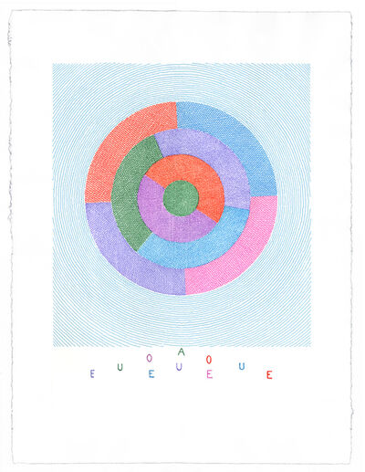 Brian O'Doherty, 'Rotating Vowels ii (Available as a set of 5)', 2014-2016