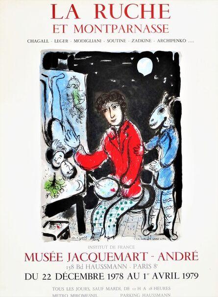 Marc Chagall, 'La Ruche Et Montparnasse, Rare Lithographic Poster', 1979