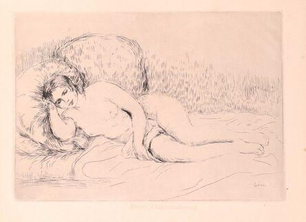 Pierre-Auguste Renoir, 'Femme Nue Couchée (Tourné à gauche)', 1906