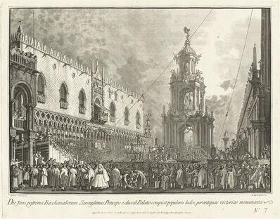 Giovanni Battista Brustolon after Canaletto, 'The Doge Attends the Giovedi Grasso Festival in the Piazzetta', 1763/1766