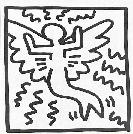 Keith Haring, 'Keith Haring (untitled) angel lithograph 1982 (Keith Haring prints)', 1982