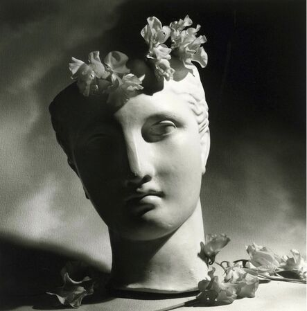 Horst P. Horst, 'Classical Head with Flowers', 1988
