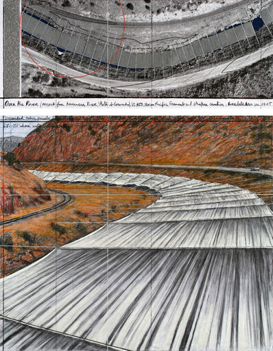 Christo, 'Over The River, Project for Arkansas River, State of Colorado #141', 2011