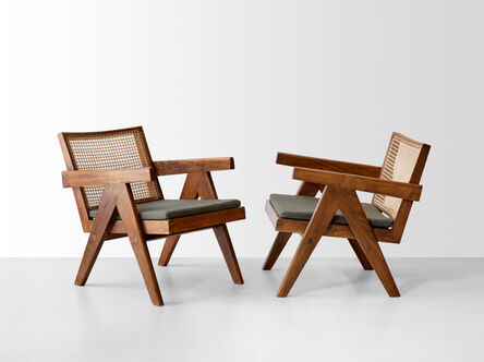 Pierre Jeanneret, 'A pair of Easy Armchairs', 1957