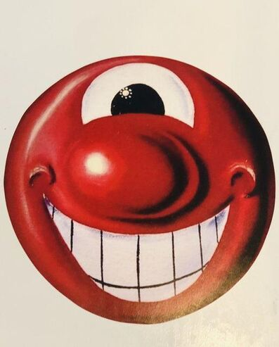 Kenny Scharf, 'Red Smiley Face', 2014