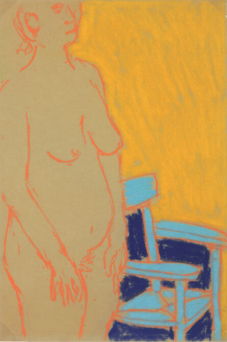 George Segal, 'Untitled (Nude with Blue Chair)', 1965