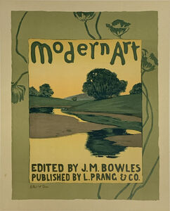 """Arthur Wesley Dow, 'Poster for the publication """"Modern Art""""', August 1896"""