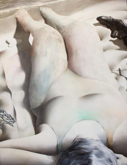 Jordan Kasey, 'Lying on a Salty Beach With Her Hair Over Her Face ', 2016