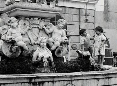 Elio Ciol, 'Sulla Fontana Della Piazza (On the Fountain in the Square)', Amalfi 1957