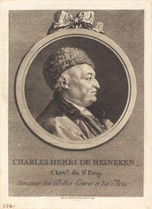 Augustin de Saint-Aubin, 'Charles Henri de Heineken', 1770