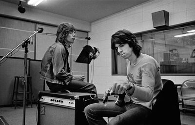 Jim Marshall, 'Mick Jagger & Keith Richards in the Recording Studio at Sunset Sound Exile on Main Street Recordings Stones', 1972