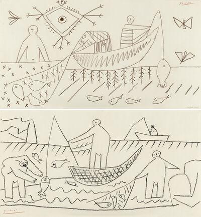 Pablo Picasso, 'Fishermen (recto/verso)', 1957