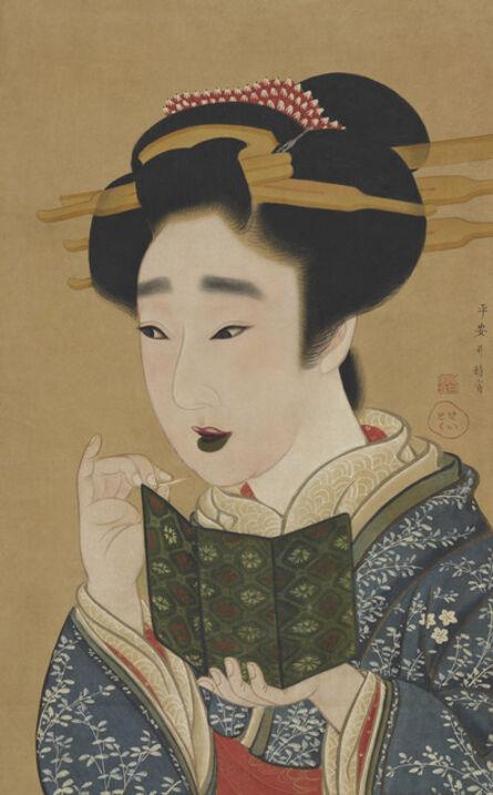 Gion Seitoku, 'Woman Applying Makeup. Japan, Edo period (1615–1868)', late 18th -early 19th century
