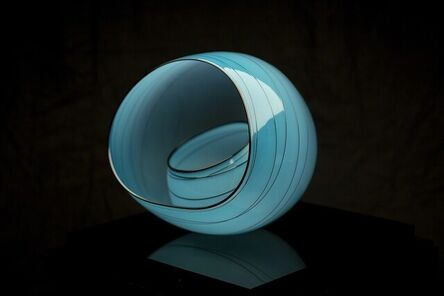 Dale Chihuly, 'Dale Chihuly Blue Sky Basket Set Sold Out Retired Portland Press Edition Handblown Glass', 2004
