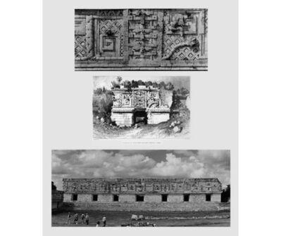 Leandro Katz, 'Monjas--Western Portion, after Catherwood [Uxmal]', 1991