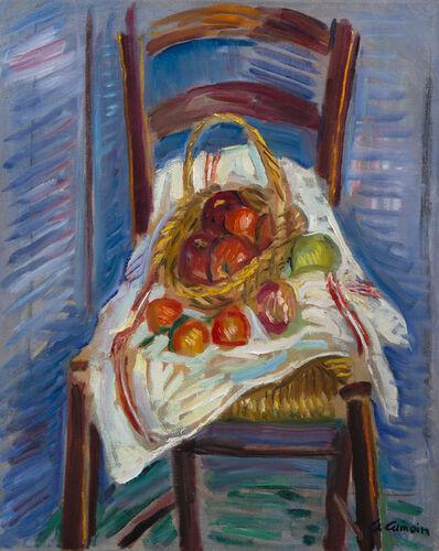 Charles Camoin, 'Corbeille de fruits sur une chaise', ca. 1959
