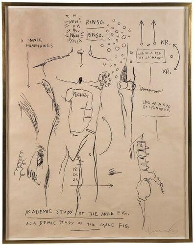 Jean-Michel Basquiat, 'Academic Study of the Male Figure', 1983