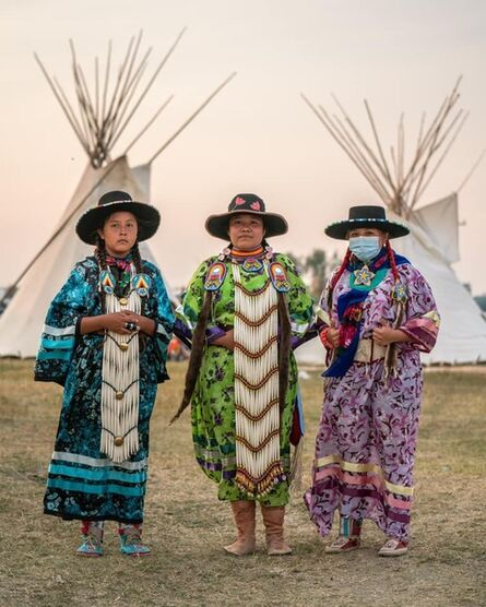 Ryan Vizzions, 'Dancers, Blackfeet Nation, Montana, 2021', 2021