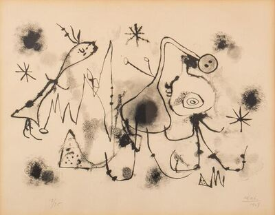 Joan Miró, 'Album 13:Plate 1', 1948