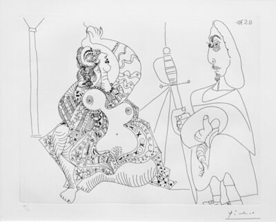 Pablo Picasso, 'MOUSQUETAIRE ET ODALISQUE, MEDUSE, PLATE 47 FROM SERIES 156 (BLOCH 1902)', 1970