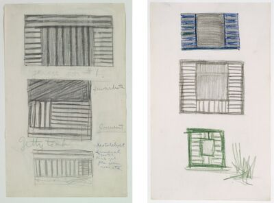 Frank Stella, 'Untitled (Study for Transitional Paintings)', 1958