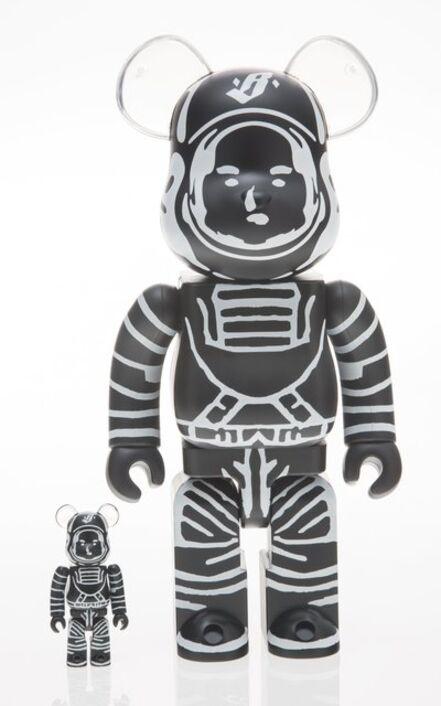 BE@RBRICK X Billionaire Boys Club, 'Astronaut 400% and 100% (Black) (two works)', 2018