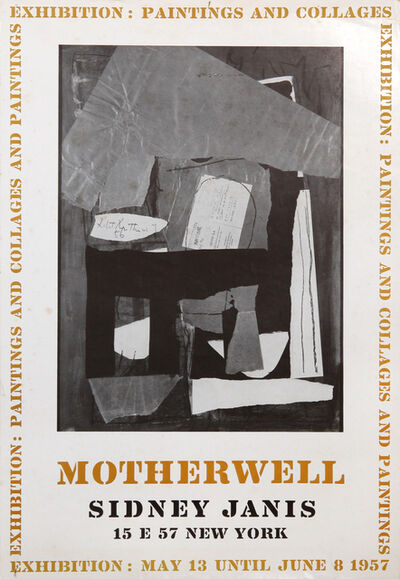 Robert Motherwell, 'Exhibition: Paints and Collages at Sidney Janis', 1957