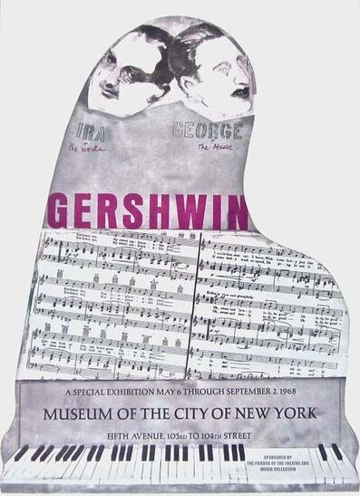 Larry Rivers, 'Gershwin Brothers 1968 Vintage Poster', 1968