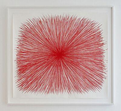 William Anastasi, 'Burst (Red Vetruvian)', 2017
