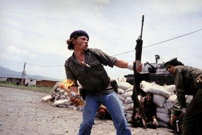 Susan Meiselas, 'Sandinistas at the walls of the Esteli National Guard headquarters.', 1979