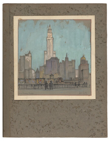 Jules Andre Smith, 'A View from the Brooklyn Bridge Featuring the Woolworth Building (1913)', ca. 1915
