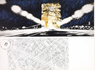 Christo and Jeanne-Claude, 'The wrapping of l'Arc de Triumph', 1972