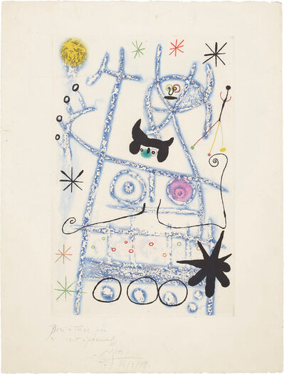 Joan Miró, 'Les forestiers (bleu) (The Foresters - blue)', 1958