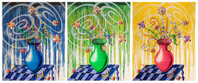 Kenny Scharf, 'Big Flores Suite ( Blue | Green | Yellow )', 2021