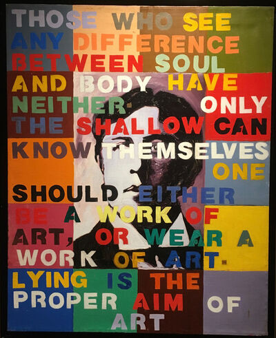 Adrian Milton, 'Those Who See Any Difference... (Oscar Wilde quote)', 1996
