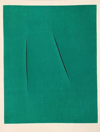 Lucio Fontana, 'Concetto Spaziale', 1975