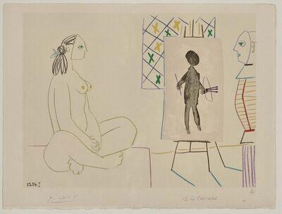 Pablo Picasso, 'Le peintre masqué et son modèle (Le Chevalet)', 1954