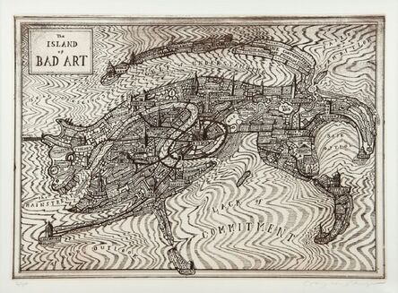 Grayson Perry, 'The Island of Bad Art (2013) (signed)', 2013