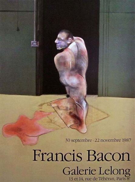 Francis Bacon, 'Standing Man 1987 Original Galerie Lelong Exhibition Poster', 1987