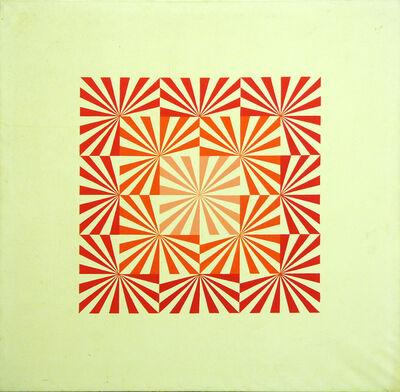 Károly Hopp-Halász, 'Radial (Red)', 1969