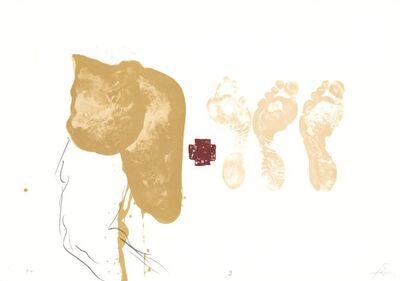 Antoni Tàpies, 'Drei Füsse - Suite IX', 1970-1980