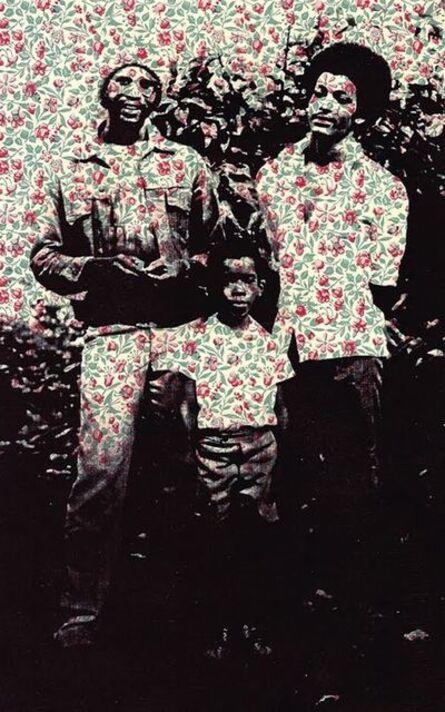 Shervone Neckles, 'Yard Boys (before we left home) Granny's Wallpaper Series', 2011